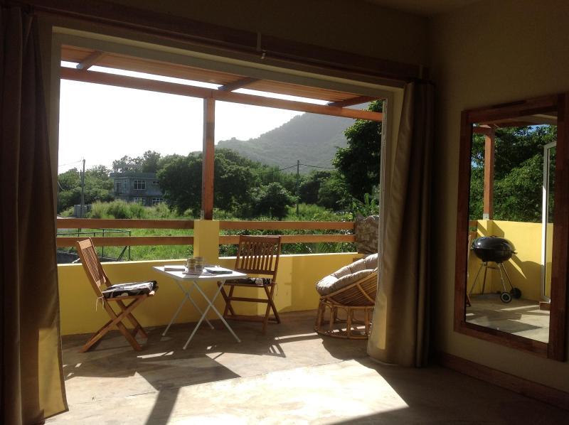 Beautique Studios 3 private dining Terrace overlooking lush fruit trees - UNESCO  Mountain  View, Studio 3 - Mauritius - rentals