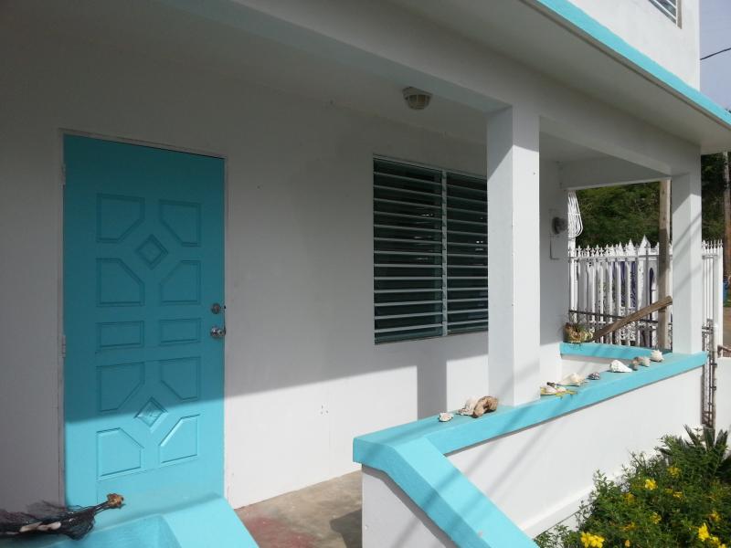 Lower unit front porch - Magdalena Guesthouse - Lower Landing - Isla de Vieques - rentals