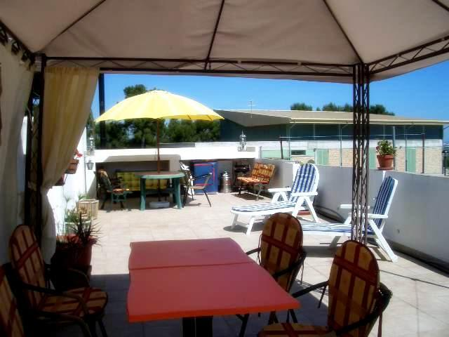 Terrace - lovely apartment with sea views - Oliva - rentals