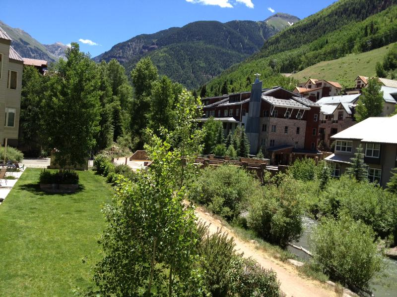 Wake up to this beautiful mountain view every morning! - Stylish Riverfront Condo in Town. Pool, Hot Tub. - Telluride - rentals