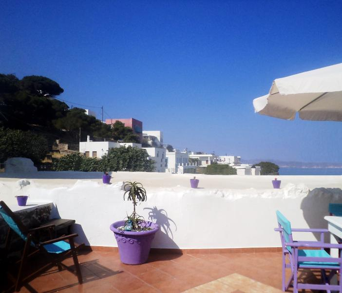 Sun terrace - Spacious Apt. with panoramic view roof-terrace - Milos - rentals