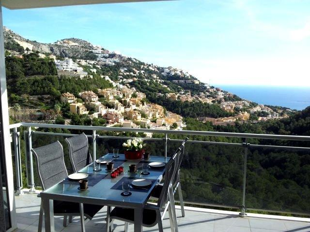 Costa Blanca, Altea, La Vella, pool, golf, sea, beach, dishwasher dutch, satellite, TV, luxury - Apartment 4 pers.Altea (La Vella) pool, sea view - Altea - rentals
