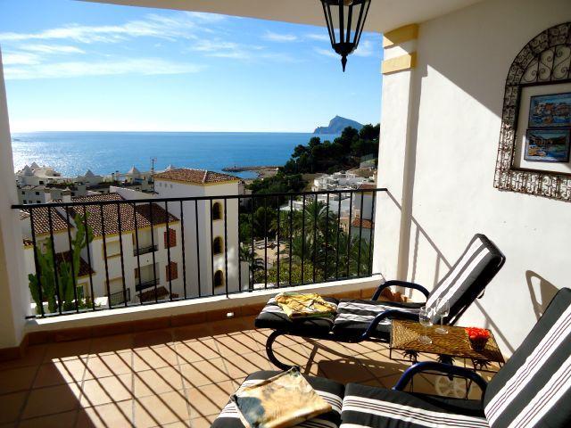 Costa Blanca, Altea, La Vella, pool, golf, sea, beach, dishwasher dutch, satellite, TV, luxury, - Apartement Dorado 8 pers. Altea (La Vella), pool - Altea la Vella - rentals