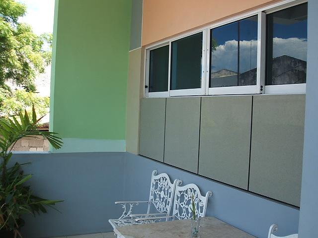 porch of two storey building, rooms for commercial space /residential room - cottage by the beach - Philippines - rentals