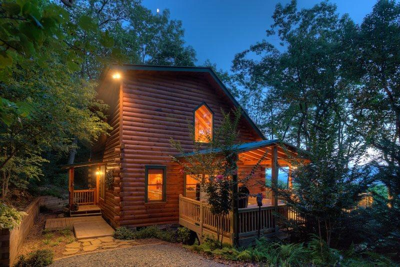 Cabin at dusk  - Quiet View - Blue Ridge GA Cabin - Blue Ridge - rentals
