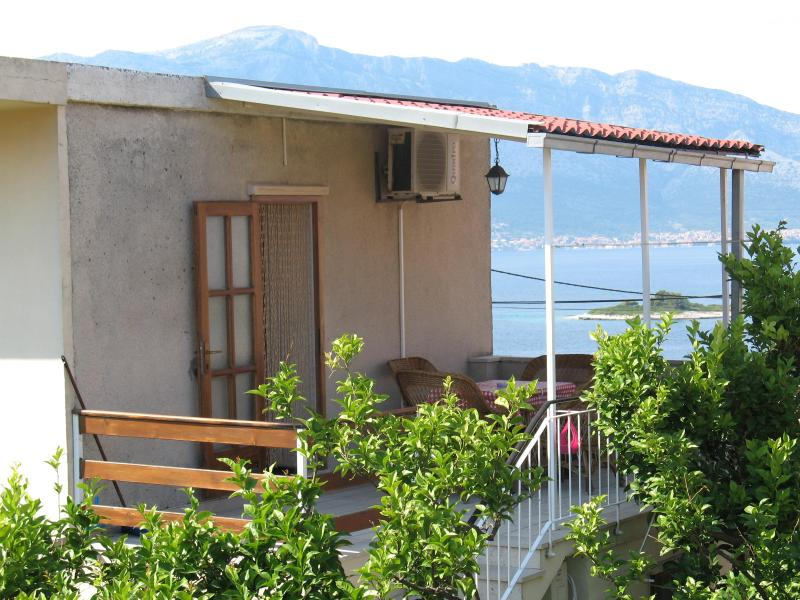 UPPER APARTMENT TERRACE - Introduce Adriatic Islands - Korcula - rentals