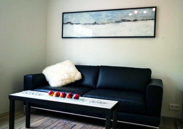Living room with comfy sofa - Modern apartment in a great location in Reykjavík - Reykjavik - rentals