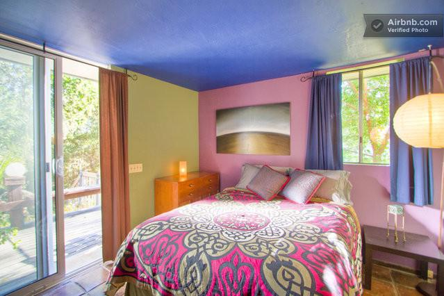 Bedroom with a super comfortable queen bed - 1 bedroom Guest Apt. on Beautiful View Hilltop - Ojai - rentals