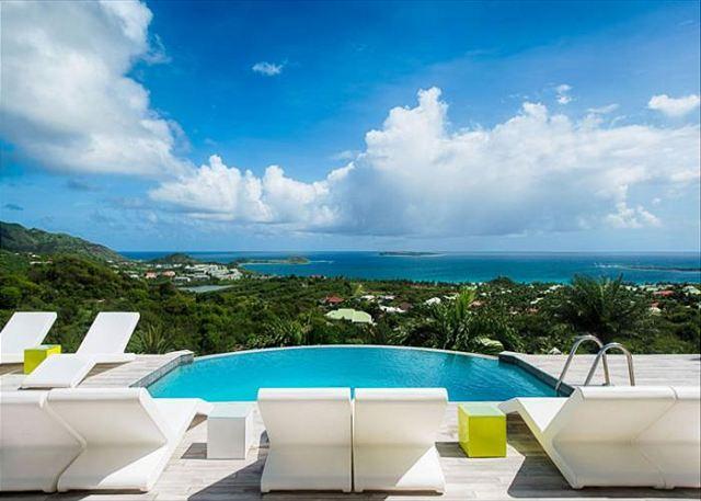 4 Bedroom, 4 Bath Beautiful Contemporary Villa above Orient Bay - Image 1 - Saint Martin-Sint Maarten - rentals