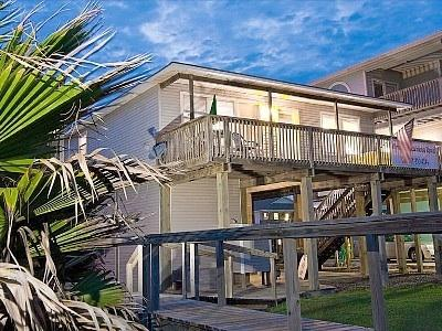 Before the new deck and Palapa! - Wyndswept Beachhouse--come and be - Surfside Beach - rentals