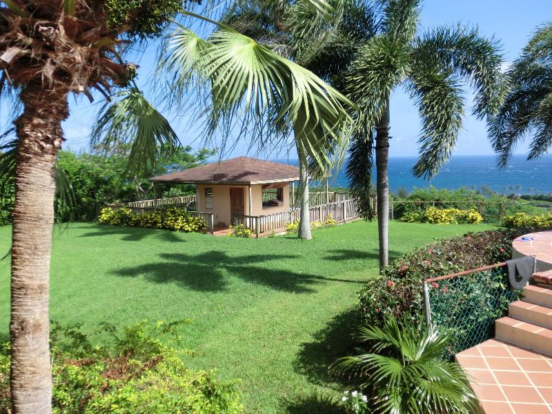Gazebo with 180 degree unobstructed ocean view perfect for happy hour! - Panoramic Ocean view private & gated house & WiFi - Aguadilla - rentals