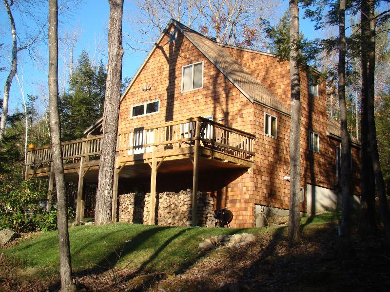 Rear from Side Rear - Private setting near Jackson, NH & White Mountains - Glen - rentals