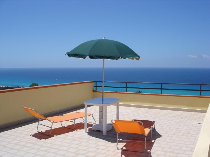 Sun Terrace view of the sea - Italian holiday apartment with unspoilt sea views - Tropea - rentals
