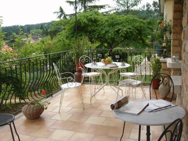 Monets delightful terrace - Apartment MONET , Maison Pierre D'Or  ( Golden Stone House) - Sarlat-la-Canéda - rentals