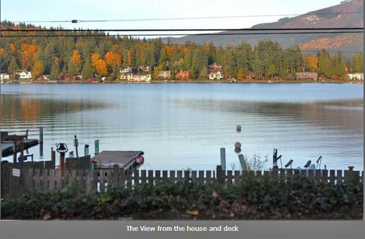 Beautiful Lake Whatcom View from Property - Lake Whatcom Cabin - Bellingham - rentals