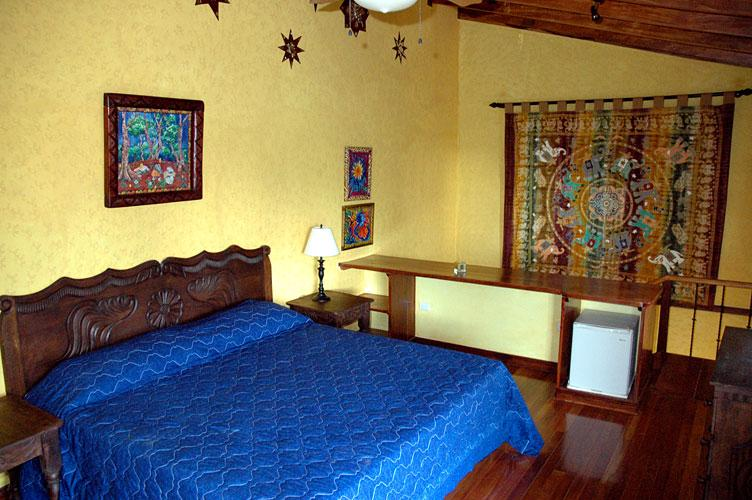 The King's room, a spacious double room, with a king size bed and mini-fridge - Tierra Magica B&B and Art Studio - King's Room - San Jose - rentals