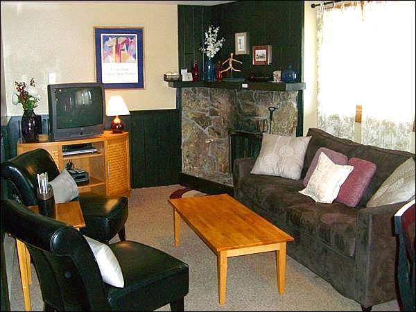 Living Room Includes a Sleeper Sofa and Fireplace - Stylish & Modern Condo - Easy Access to Downtown Crested Butte (1352) - Crested Butte - rentals