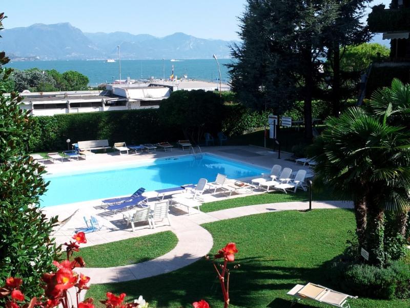 view from the terrace - Ai Teatri Apartment -lake view. terrace.Airco,WiFi - Desenzano Del Garda - rentals