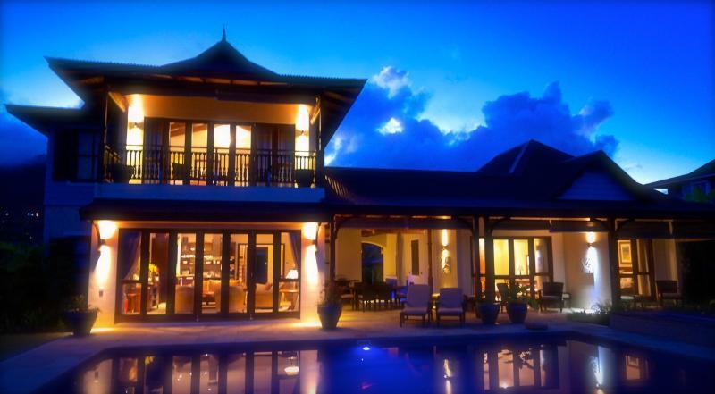EdenView Villa, in the evening - Luxury villa on a private resort in Seychelles - Eden Island - rentals