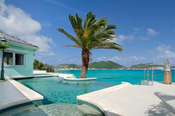 EL SUENO... Little Bay, Philipsburg, Dutch St Maarten 800 480 8555 - EL SUENO...unsual oceanfront villa with amazing views of Great Bay Harbor... fabulous!! - Philipsburg - rentals