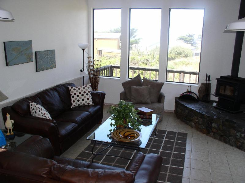 In the upstairs Great Room looking out at the beautiful Pacific Ocean! - By The Sea - Bodega Bay - rentals