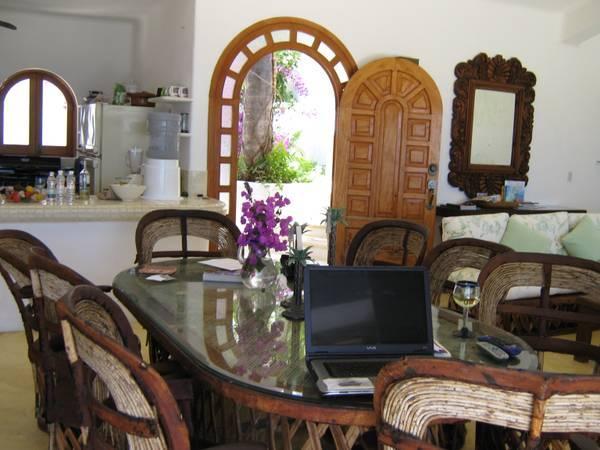 a view of the front door form the living room. - Beach Villa Fabulous Ocean Views! - Colonia Luces en el Mar - rentals