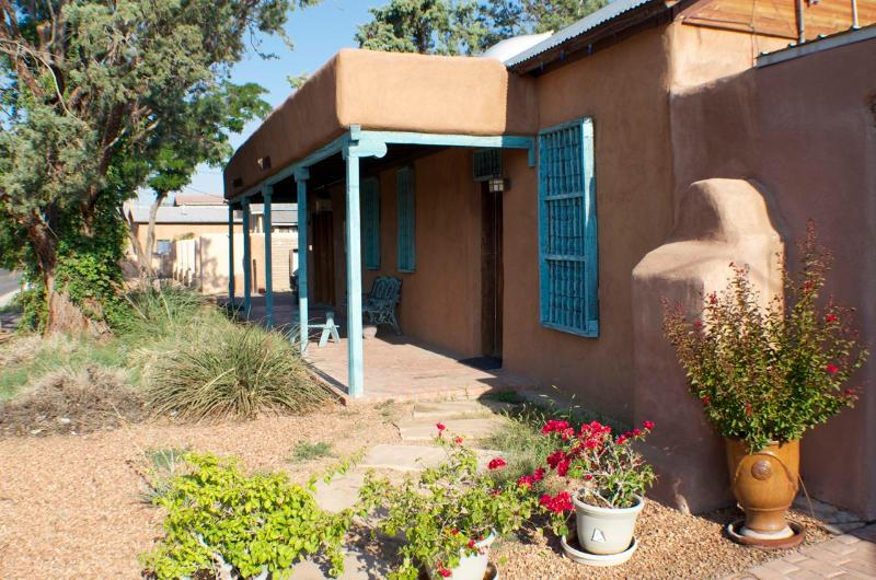 Front of the house from the East - Old Town Historic House with Pool and Hot Tub - Albuquerque - rentals