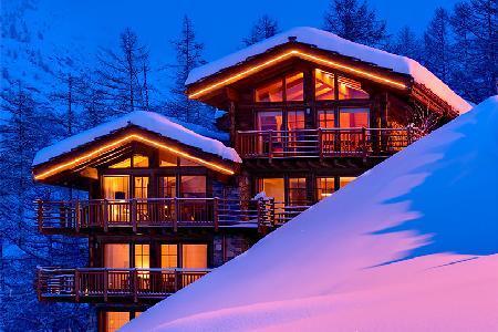 Elegant Alpine Chalet Maurice with Staff, Spa & Steam Room Near Town & Slopes - Image 1 - Zermatt - rentals