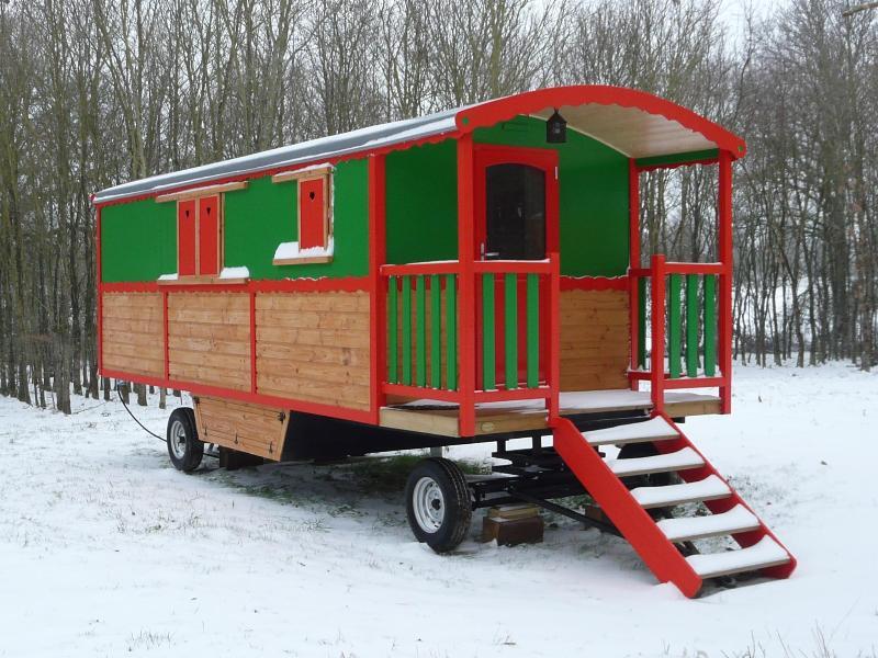 Roulotte in winter - Roulottes de Bois-Danar - Chateaubriant - rentals