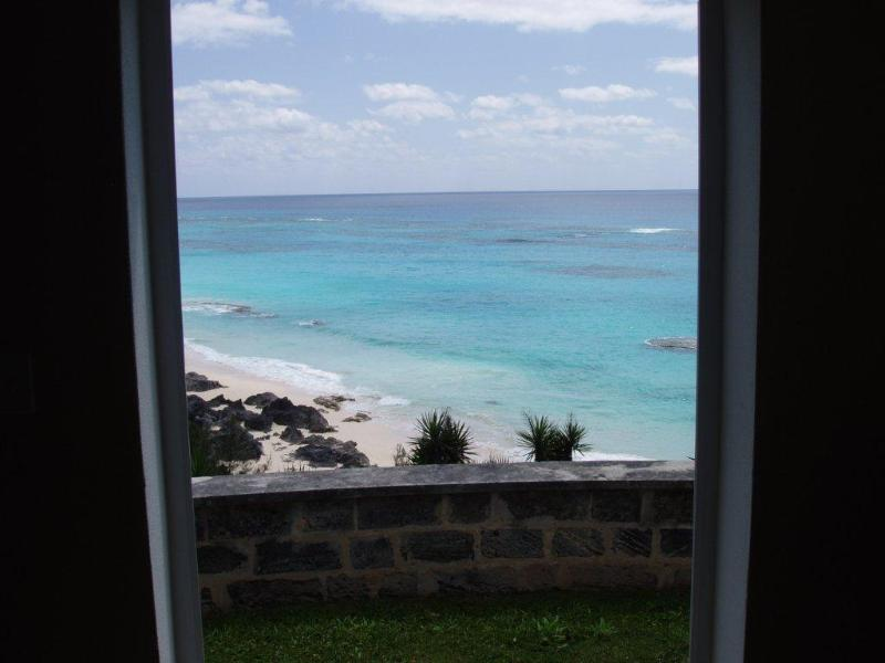 View from the living/dining room.Beach is a 60 meter walk away. - Another Beach Cottage on Bermuda's Marley Beach! - Warwick - rentals