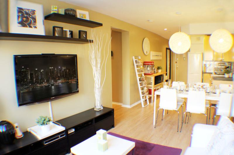Living Room, Dining Room,Kitchen, 1st Bathroom & Entryway - Metropolitan Times Square - New York City - rentals