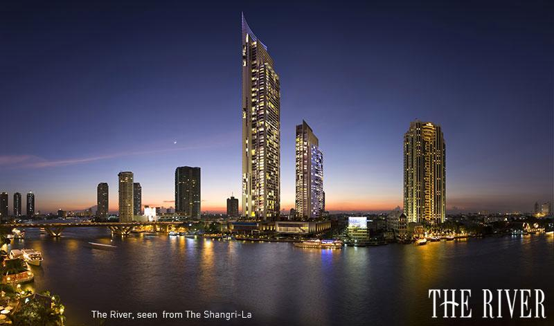 The River condo - A luxury studio room for rent on Chao Phraya River waterfront,The River condo, enjoy wonderful scenery, USD 966 / 2 weeks - Bangkok - rentals