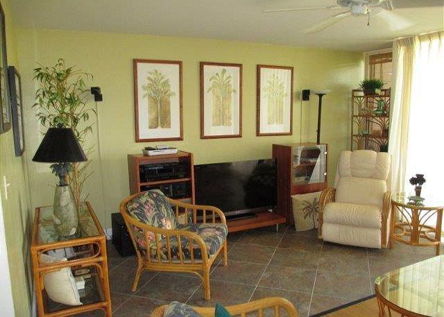 Living Room - EXPERIENCE TRUE HAWAII.  Available for 30 night rentals, please call - Kahuku - rentals