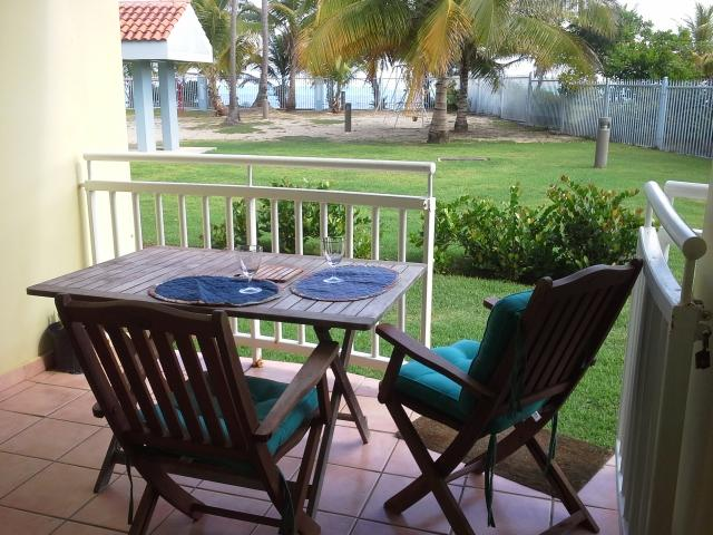 Back Terrace with Beach View - Beach House Feeling  Ocean Front Garden Apartment - Loiza - rentals