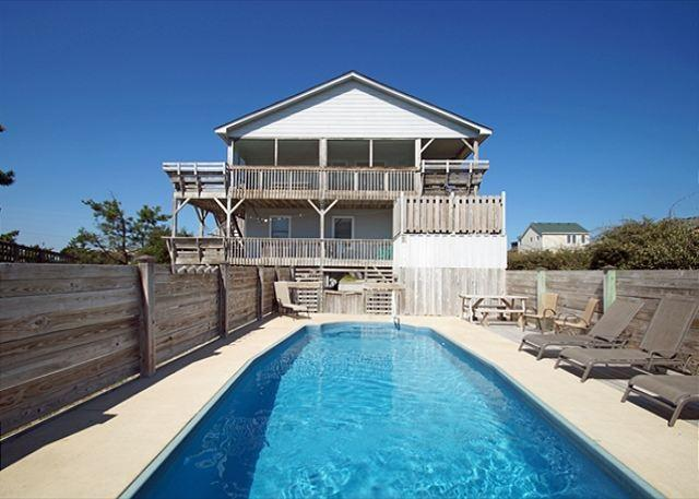 full size photo 0 - SN8608-CROSS THE STEET COTTAGE- PRIVATE POOL!! - Nags Head - rentals