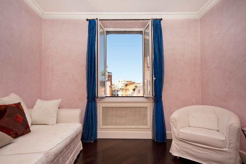 living room - Trastevere graceful apartment - Rome - rentals