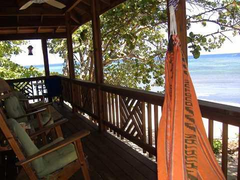 Lara's Dream - from the hammock - ROATAN: Cozy 1 bedroom BEACH COTTAGE FOR RENT - Roatan - rentals