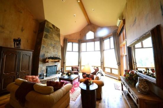 Large Living Room with Fireplace and World Class Views - Amazing Views out of this Spectacular 4BR Mountain Home in Exclusive Cordillera Gated Community - Edwards - rentals