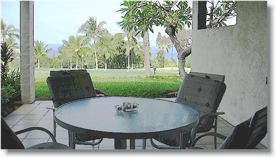 private lanai - Country Club Villas  119 2/2 golf/oceanview - Kailua-Kona - rentals