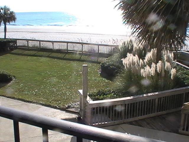 Beach from Balcony - 1st Floor Oceanfront Myrtle Beach Condo Rental with a Pool - Myrtle Beach - rentals