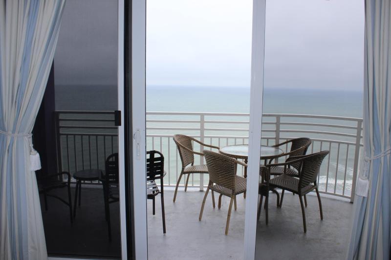 Balcony off the master suite - 2 Bedroom Deluxe Ocean Front Free WIFI - Daytona Beach - rentals