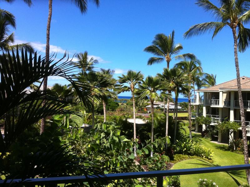 VIEW FROM LANAI - Up Graaded Condo C-205  Partial Ocean View, - Waikoloa - rentals