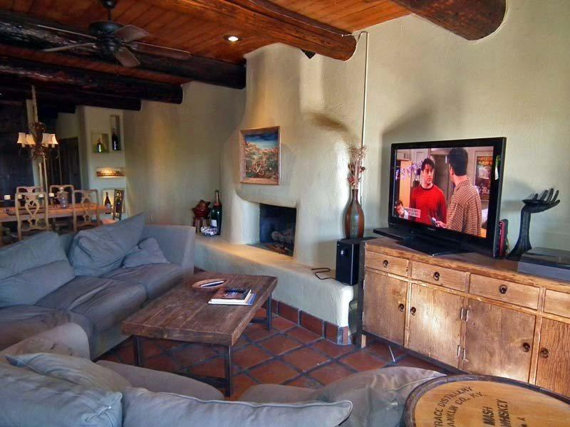 Flat Screen TV  Fireplace in Living Room - Secluded Dunes - Bermuda Dunes - rentals