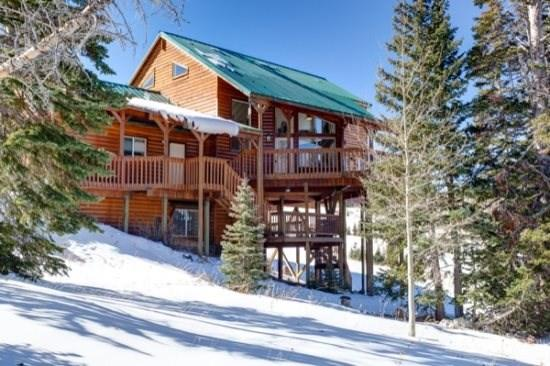 The view of your cabin from Paradise Run off of chair 4 - Stairway to Heaven Ski in/out - Brian Head - rentals