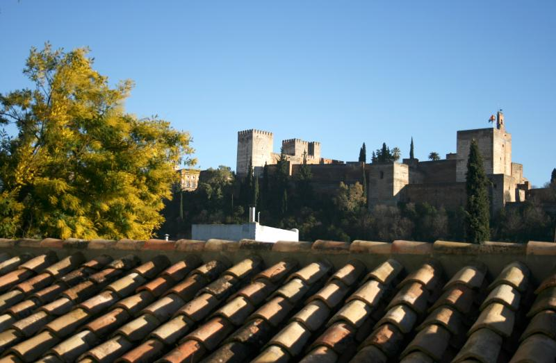 "View from Balcony - Apartment house with  views of the Alhambra.  ""B"" - Province of Granada - rentals"