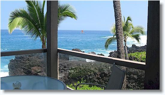Surf & Racquet 1201 2/2 oceanfront - Image 1 - Kailua-Kona - rentals
