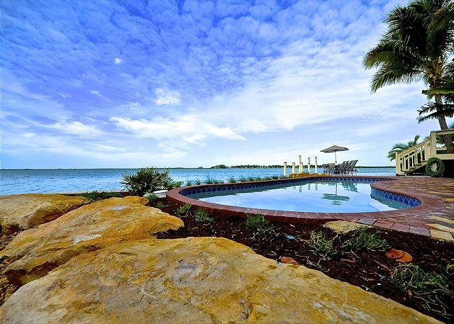 """The Pool Has a Beautiful View of the Bay - """"BAY HARBOR VIEW"""" - Waterfront Monthly Rental w/ Spectacular Views - Key West - rentals"""