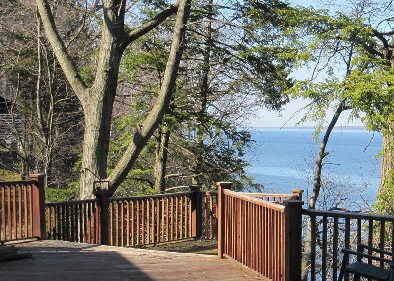 View from the upper deck - Serenity Zen House - Penn Yan - rentals