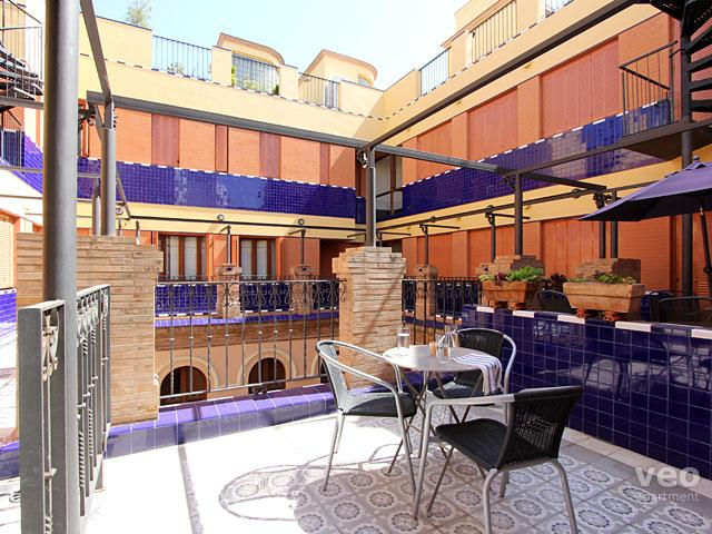 This 2-bedroom apartment features a private terrace. - Pajaritos 4 Terrace   2 bedrooms for 3, terrace - Seville - rentals