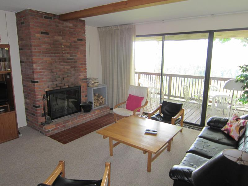 Wood burning fireplace, sofabed, and mountain views! - Roomy Townhouse with Spectacular Mountain Views - Stowe - rentals